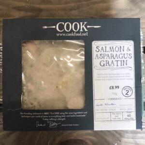 COOK Salmon and Asparagus Gratin
