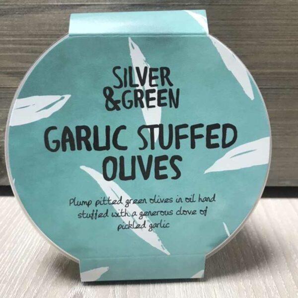 Silver & Green Garlic Stuffed Olives