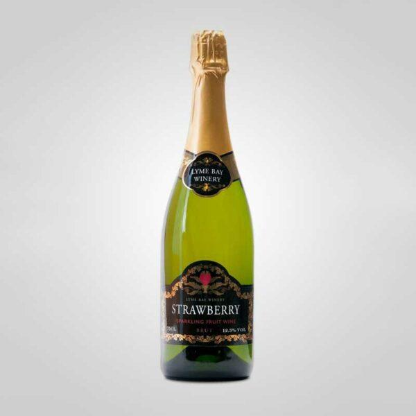 Lyme Bay Winery Brut Strawberry Sparkling Fruit Wine (75cl)