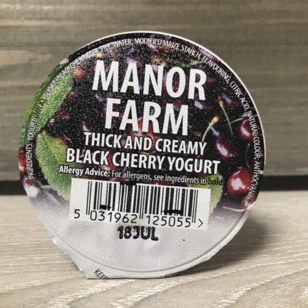 Manor Farm Black Cherry Live Yoghurt (125g)