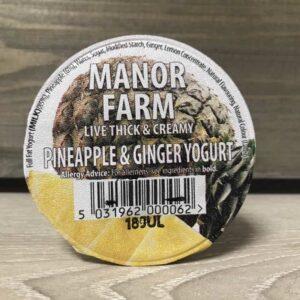 Manor Farm Pineapple & Ginger Live Yoghurt (125g)