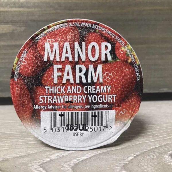 Manor Farm Strawberry Live Yogurt (125g)