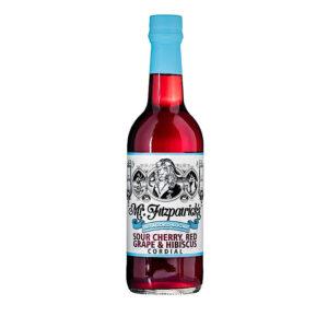 Mr Fitzpatricks No Added Sugar Sour Cherry, Red Grape & Hibiscus Cordial (500ml)
