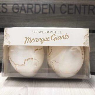 Flower & White Giant Vanilla Swiss Meringues (Pack of 2)