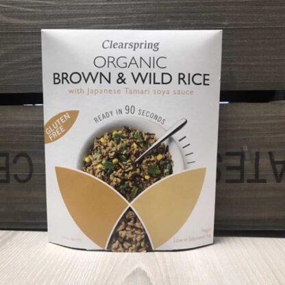 Clearspring Organic Gluten Free Brown & Wild Rice With Tamari Soy Sauce 250g
